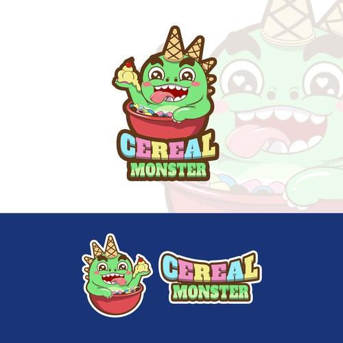 Cartoon mascot design for a kid cereal brean