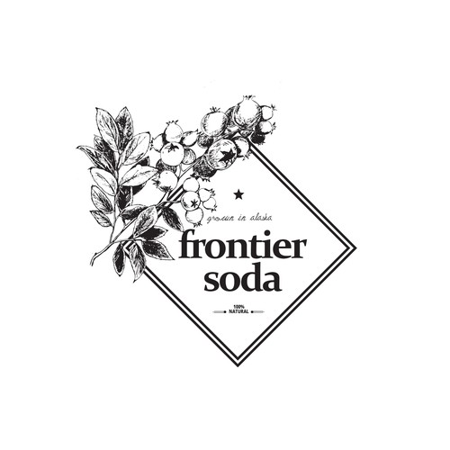 Logo design for natural drink