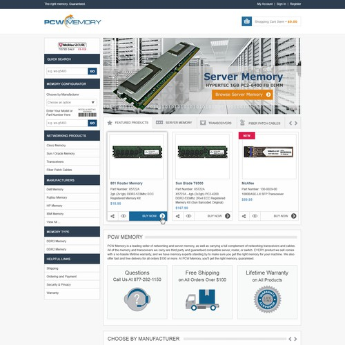 New Website for Silicon Valley e-Commerce Company