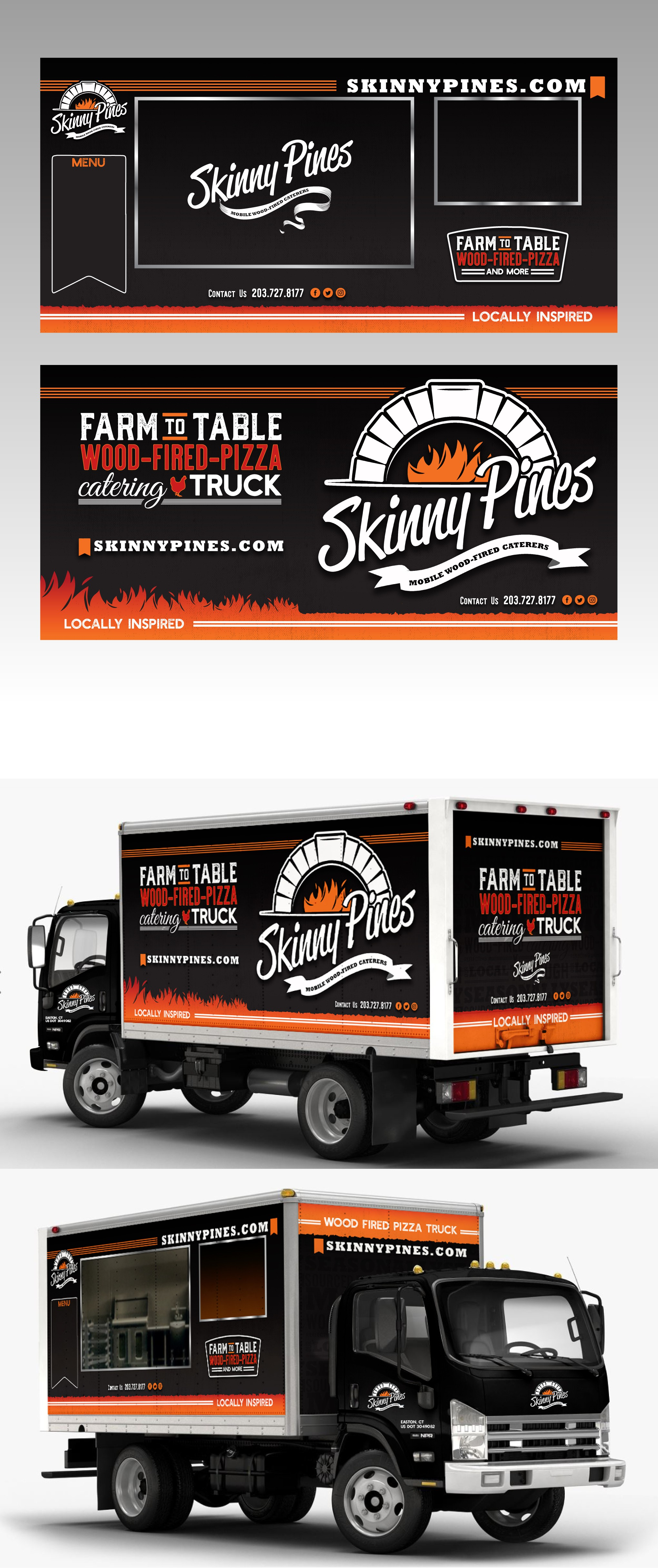 Vehicle Wrap for wood fired food truck
