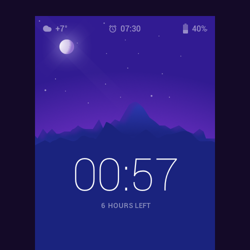 Bed clock app