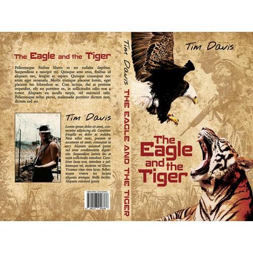 Book cover design for Vietnam War fiction book