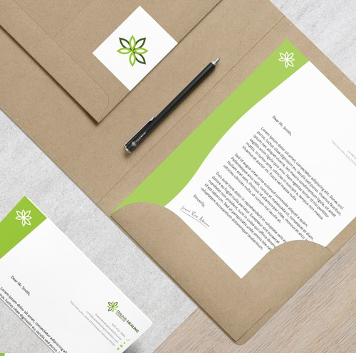 Letterhead concept for Trauma and Healing Foundation
