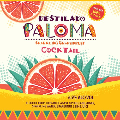 Mexican label design