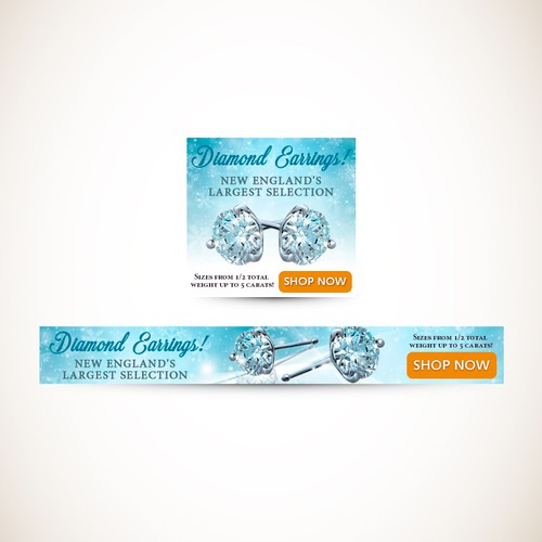 Winter/ice theme banners for M.R.T. Jewelers