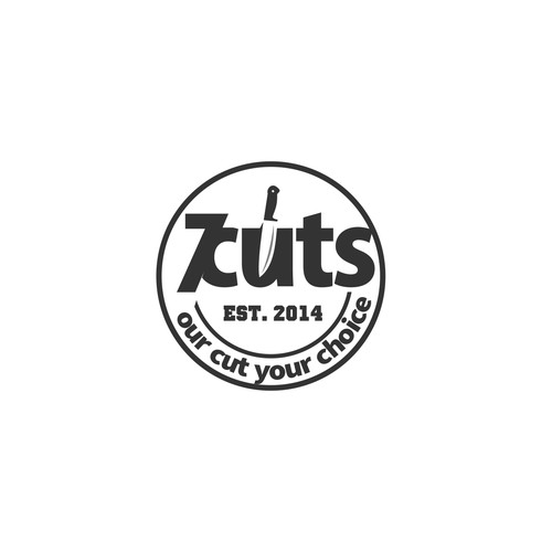 Sharp logo concept for 7cuts Resto