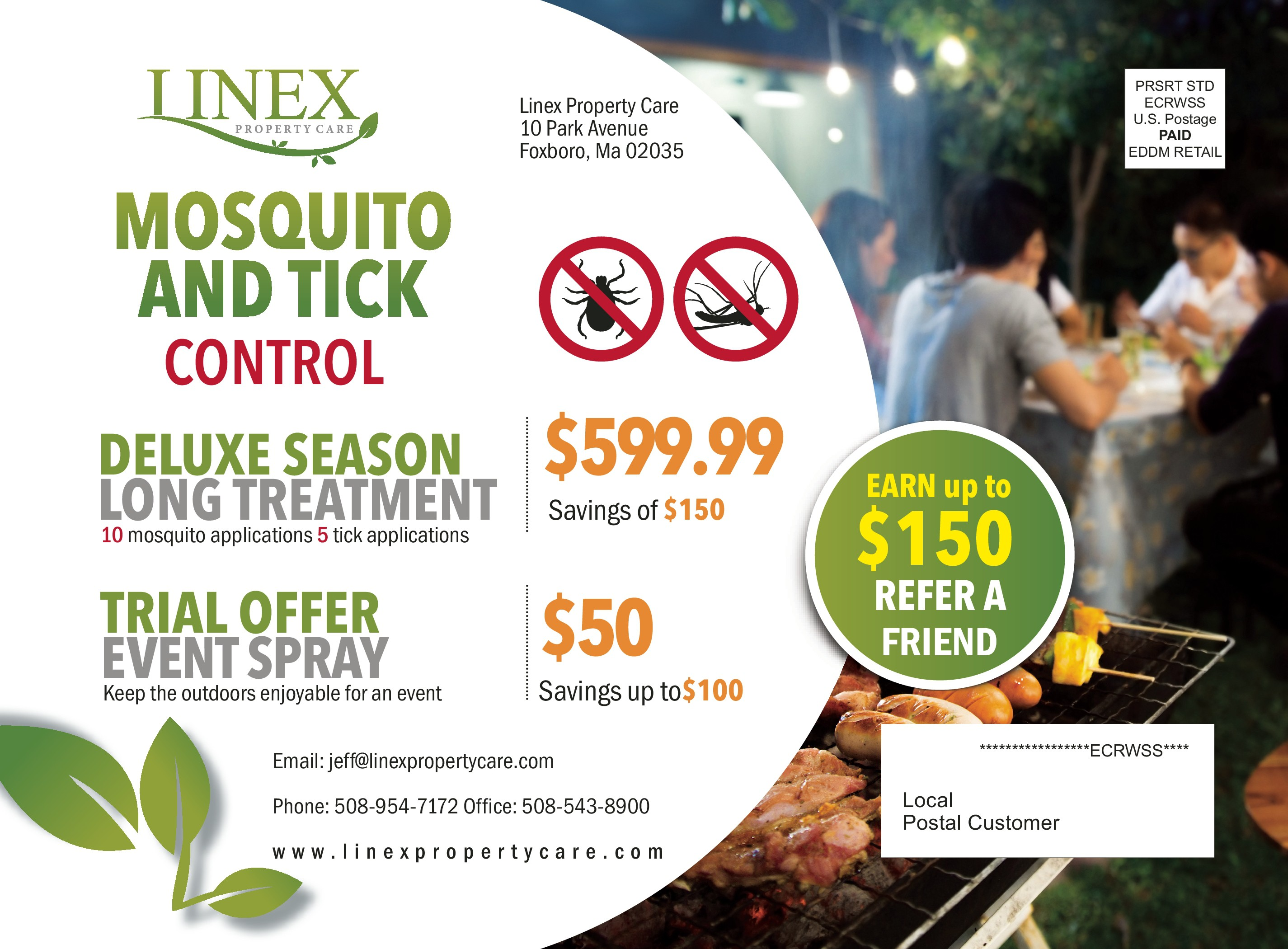 Lawn Care/ Mosquito Control Postcard . Must be EDDM READY TO PRINT