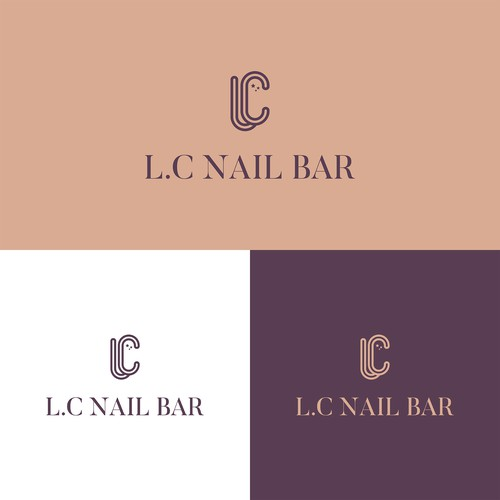 Logo design for a luxurious nail bar.