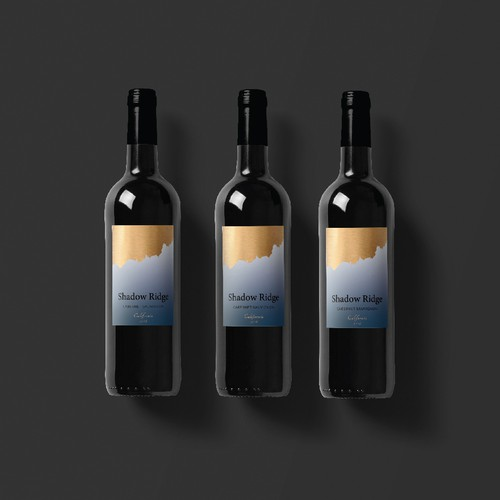 minimalist wine label