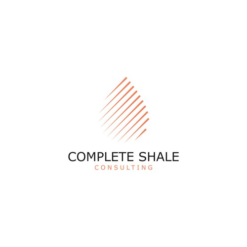 Oil/Water Drop logo concept for Complete Shale Consulting