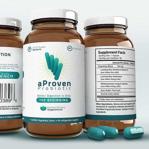 Quick Supplement Label Design