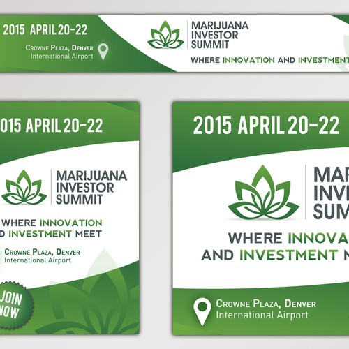 Banner Ads for the Marijuana Investor Summit.