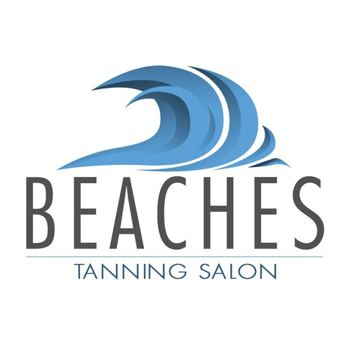 Simple logo for a tanning salon