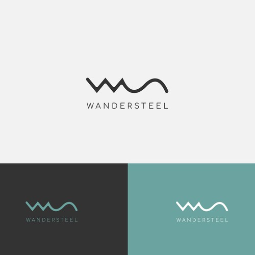 Modern, clean, and elegant logo for Wandersteel