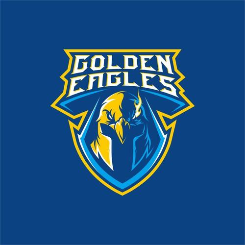 Golden eagles basketball team logo
