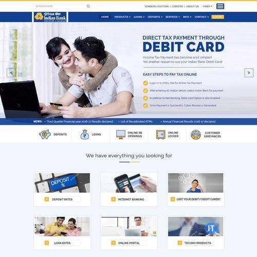 Designed Website for Bank