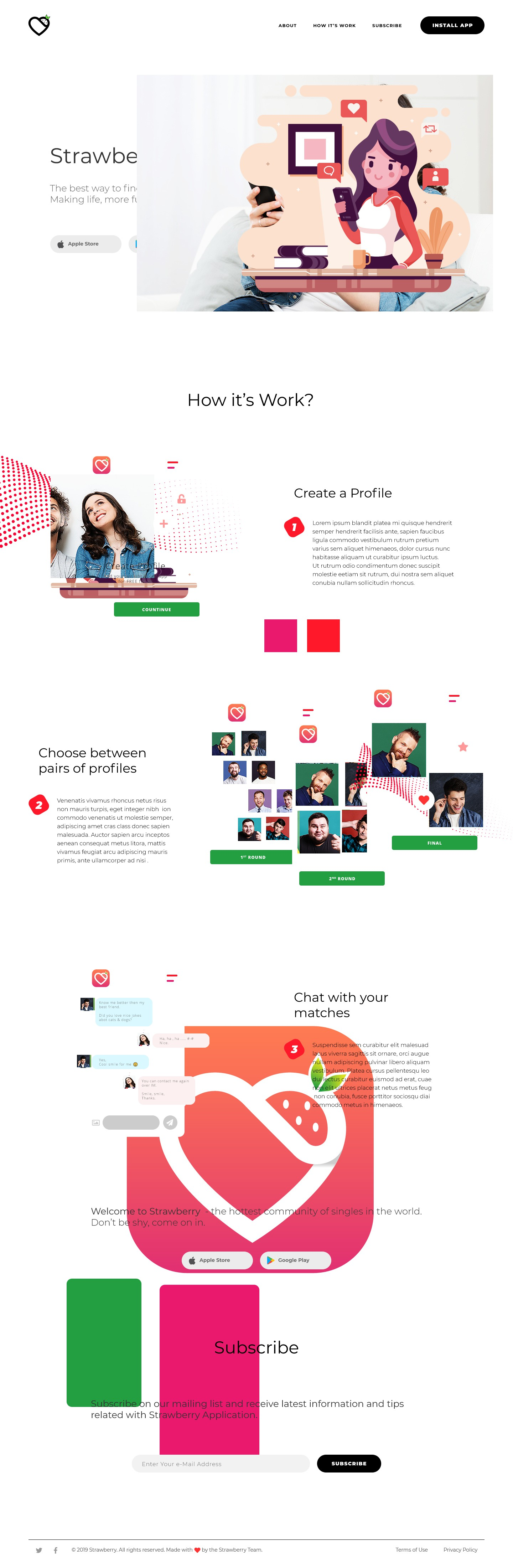 Strawberry Dating Marketing Page
