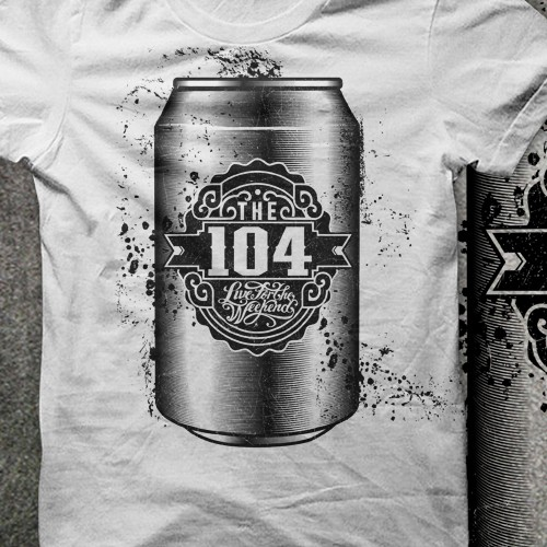Retro Style TShirt Design For Brand (The 104)