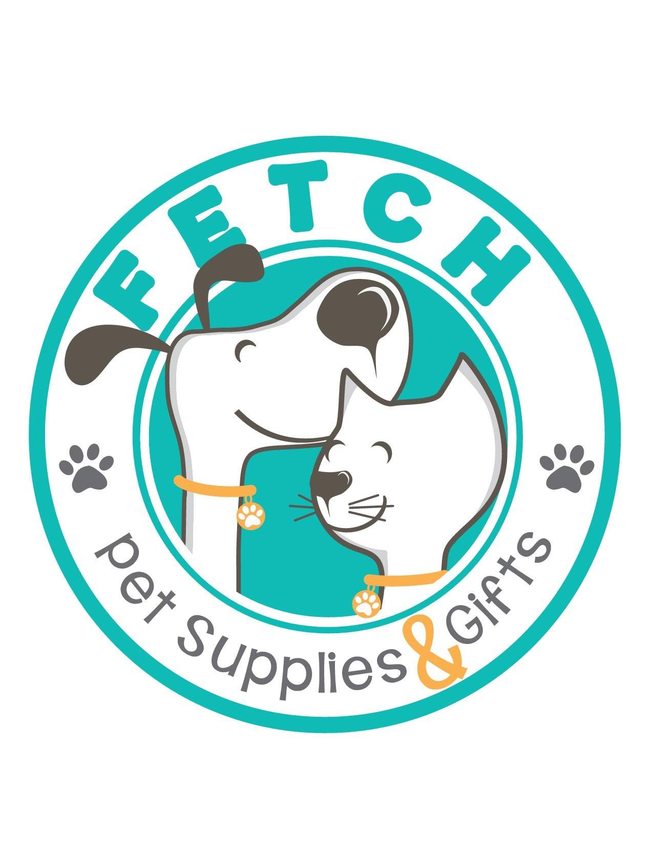 Create a logo for a fun, unique dog and cat supply shop!