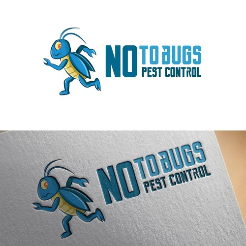 NO to bugs logo