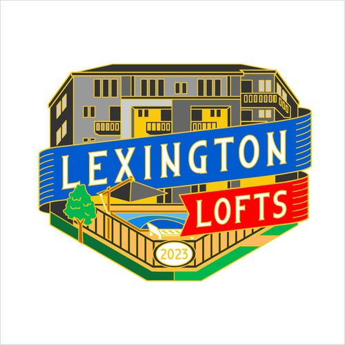 logo concept for lexington lofts pin