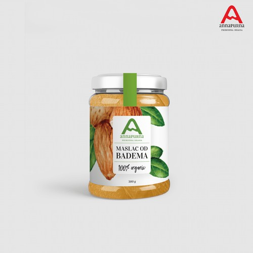 Design a label for organic almond butter