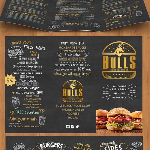 Fun tri-fold menu