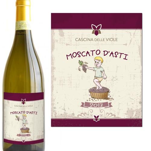 Etichetta per vino Moscato D'asti