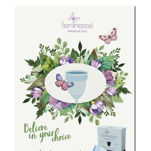 poster design for Feminesse brand