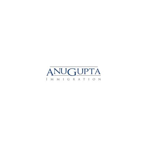 Create the next logo for  Anu Gupta, Immigration Desk   or   Anu Gupta, Business Immigration (same as the samples I am uploading