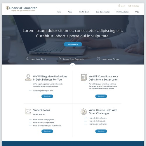 Homepage Redesign for Financial Site