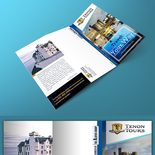 Create an inspiring travel brochure for an Ireland and UK tour operator!