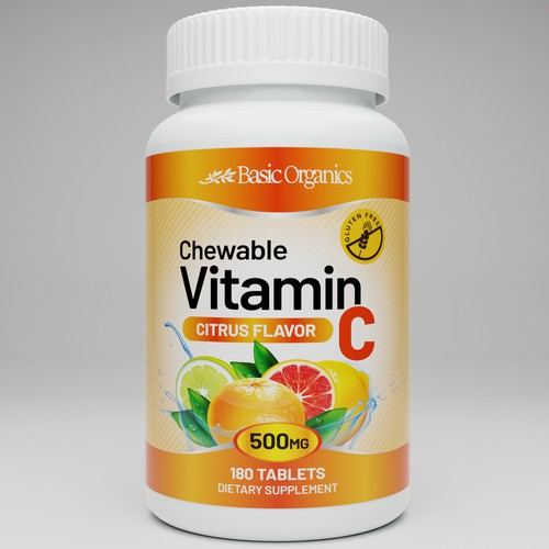 Vitamin C Label Design