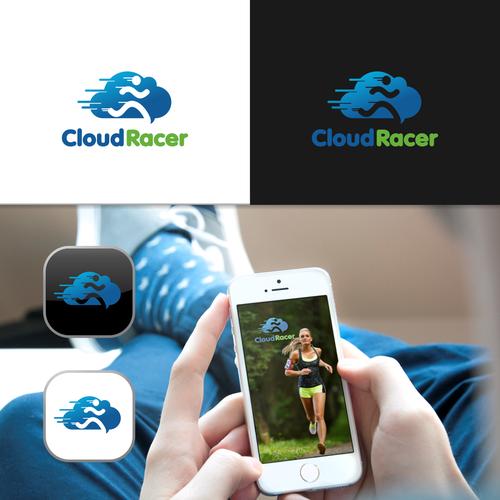 Create a logo for CloudRacer - a new iOS app