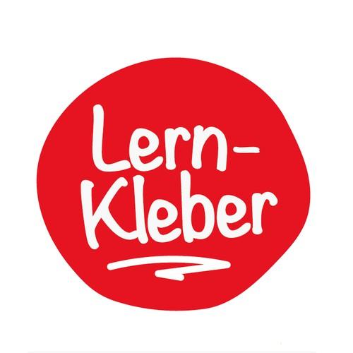 "verspielt wertiges Logokonzept ""Lern-Kleber"""