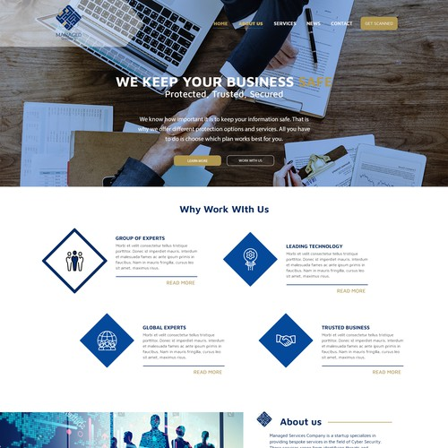 Managed Services Landing Page