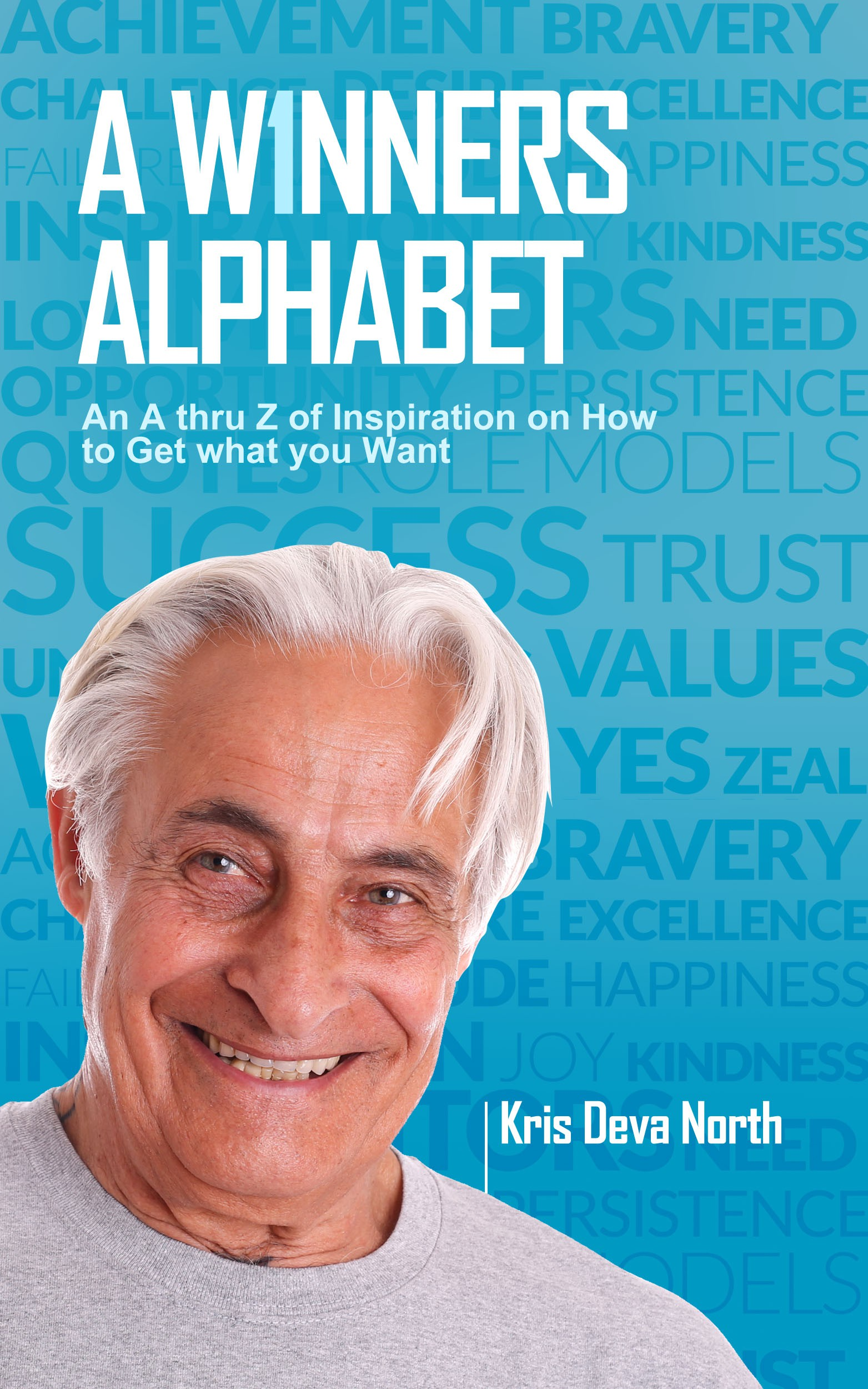Create a compelling cover for an ebook of quotations 'A W1nners Alphabet'
