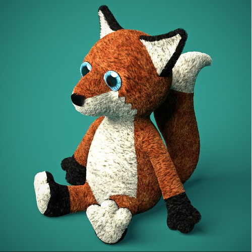 Fox Plush Toy — 3D Model