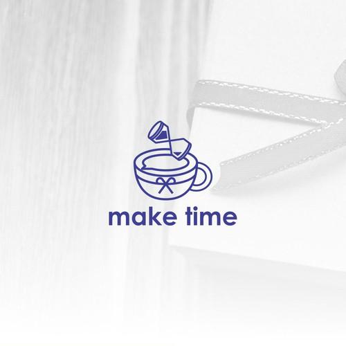 Make Time Logo design .