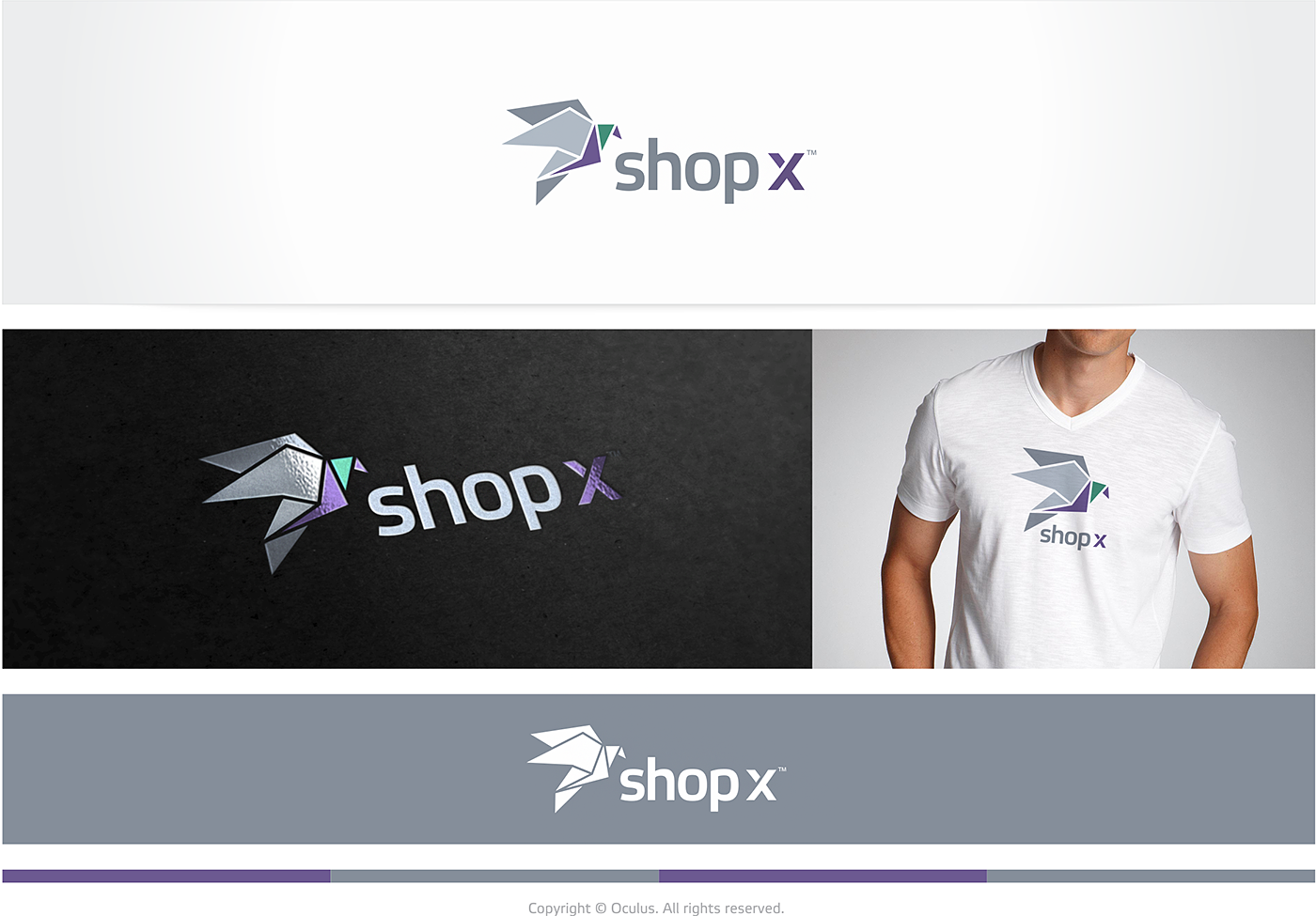 Create a vibrant and modern logo for our Google Glass app: Shop X!