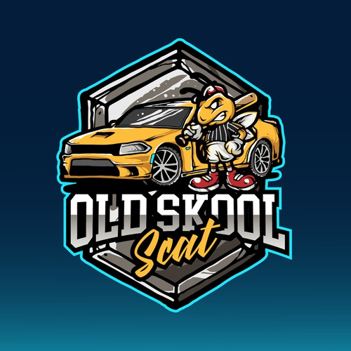 Illustration logo for Oldskool Scat