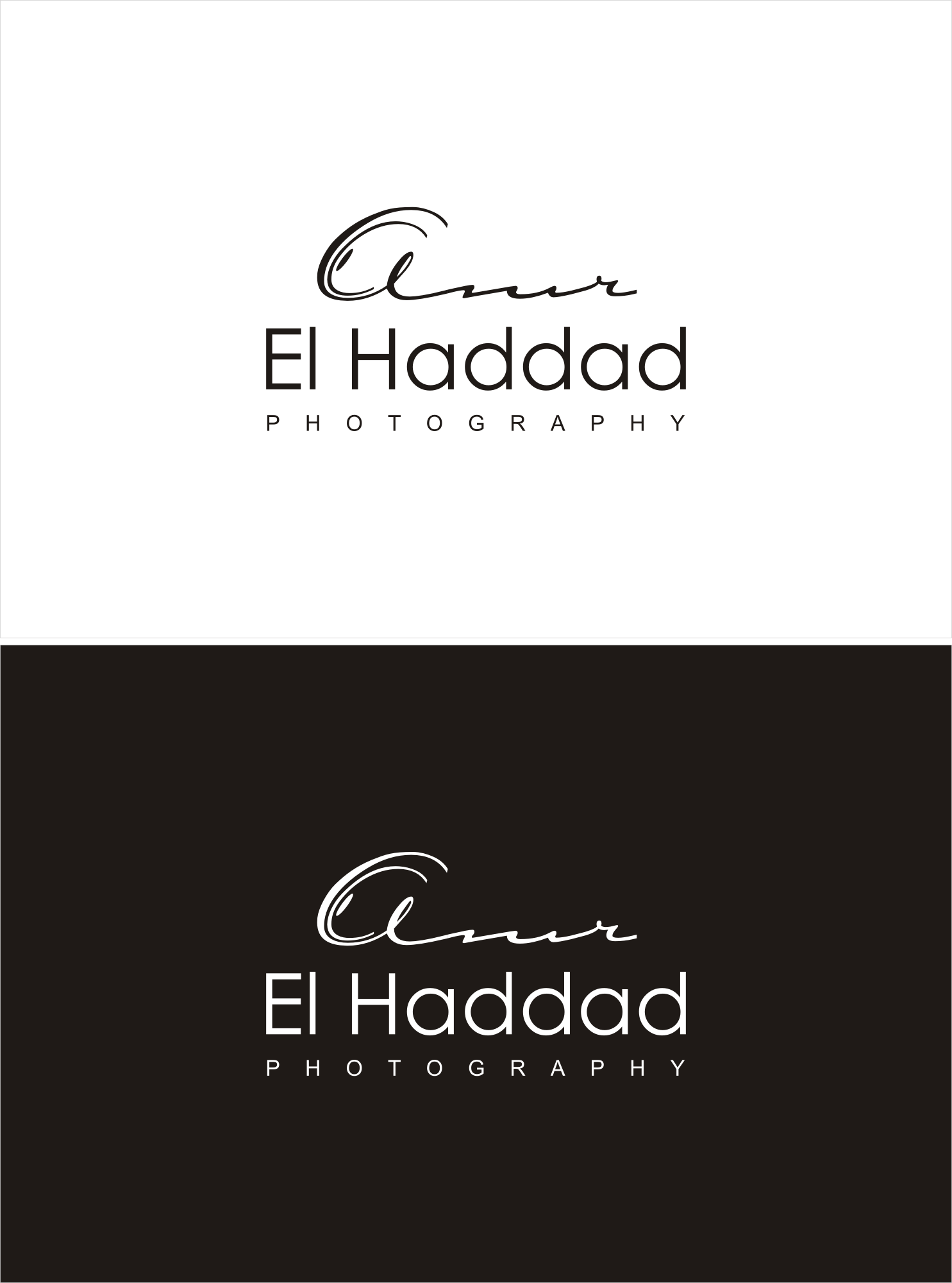 """Challenging your creativity with a new wanted logo for """"Amr El Haddad Photography Business"""""""