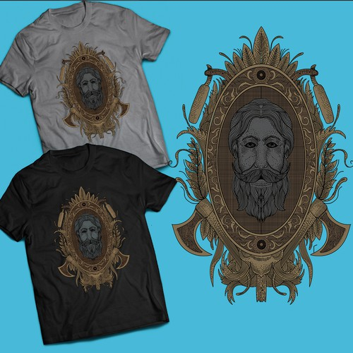 Beard man t-shirt design