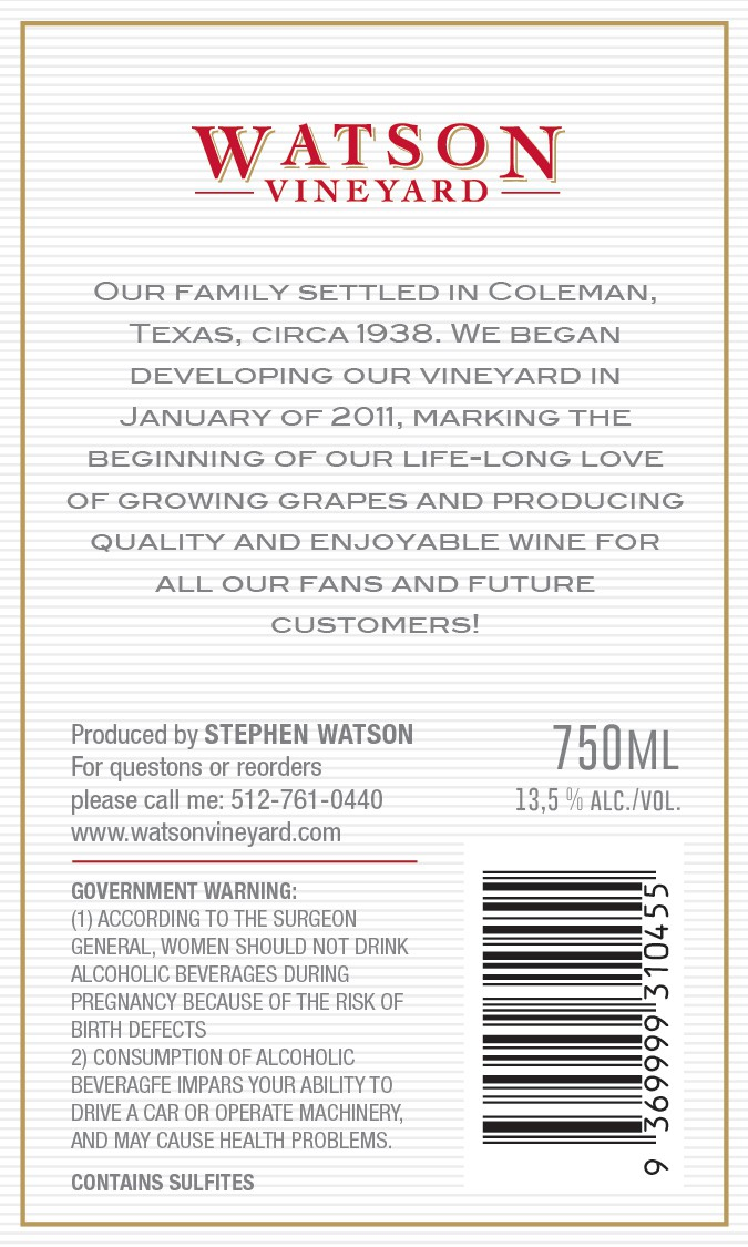 Classy wine label for start up winery