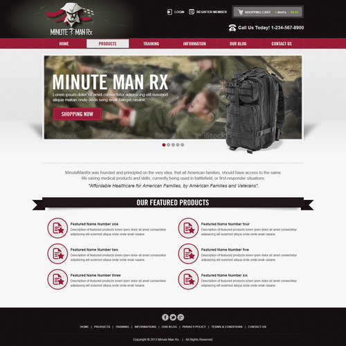 Design a new website for MinuteManRX