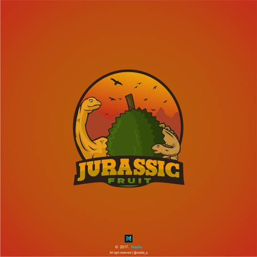 Logo for Jurassic fruit