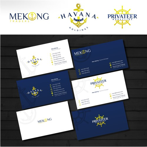 Help Havana Club Holdings, Mekong Trading, Privateer Marketing with a new logo and business card