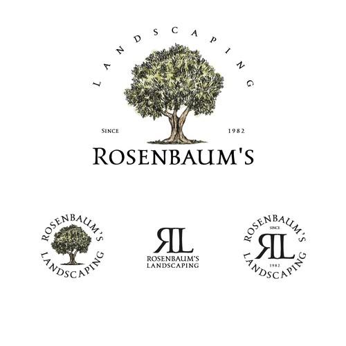 Logo and brand identity for Rosenbaum's Landscaping
