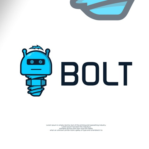 robot logo for software projects.