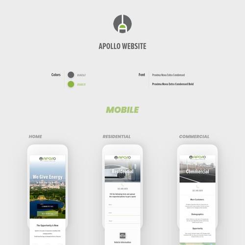 Clean responsive website